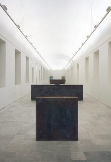 Escultura perdida de Richard Serra en la sala A1 del Reina Sofía