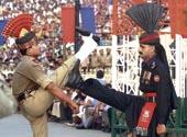 Ceremonia indio-paquistaní en Wagah