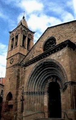 La iglesia de Santa María de Agramunt, en la comarca de Urgel.