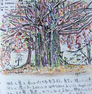 Cuaderno de viaje de Hiro. Dibujo de Myit-Son.