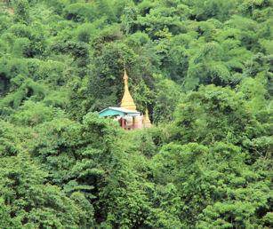 Pagoda en el bosque.