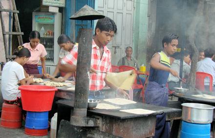 Restaurante en Mandalay.