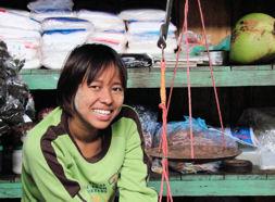 Vendedora en mercado.