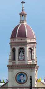 Iglesia cristiana en el Mae Nam Chao Phraya.