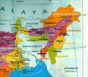 Estados del Nordeste de La India