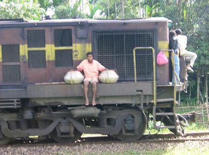 Locomotora en Silchar.