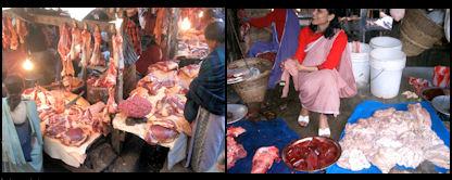 Carnicerías en Shillong.