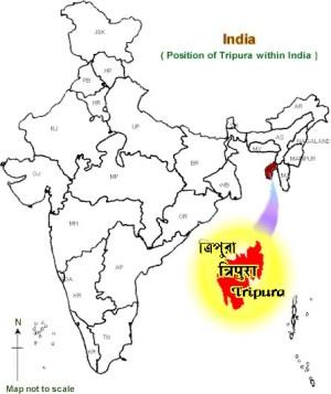 Tripura dentro de la India